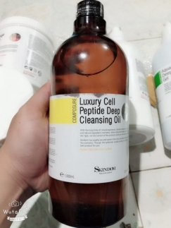 Luxury Cell Peptide Deep Cleansing Oil - Sữa rửa mặt skindom 1000 ml