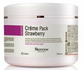 Cream Pack Strawberry Skindom ̀̀́́̃500ml - Mặt nạ kem chống lão hóa với chiết xuất dâu tây