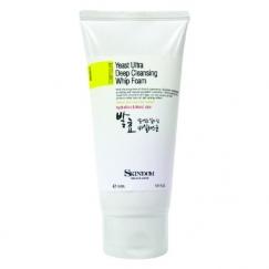 Yeast Ultra Deep Cleansing Whip Foam Skindom - Sữa rửa mặt chiết xuất nấm men